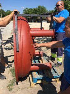 vízszűrő berendezés szállítása