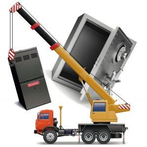 Nehéz tárgyak, gépek, eszközök szállítása, mozgatása.