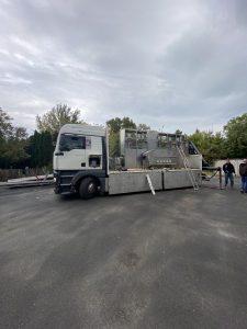 Élelmiszer ipari gép szállítása